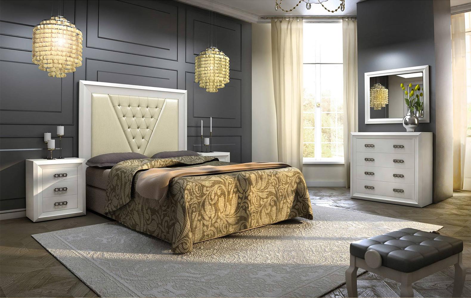 dormitorio cabecero beige