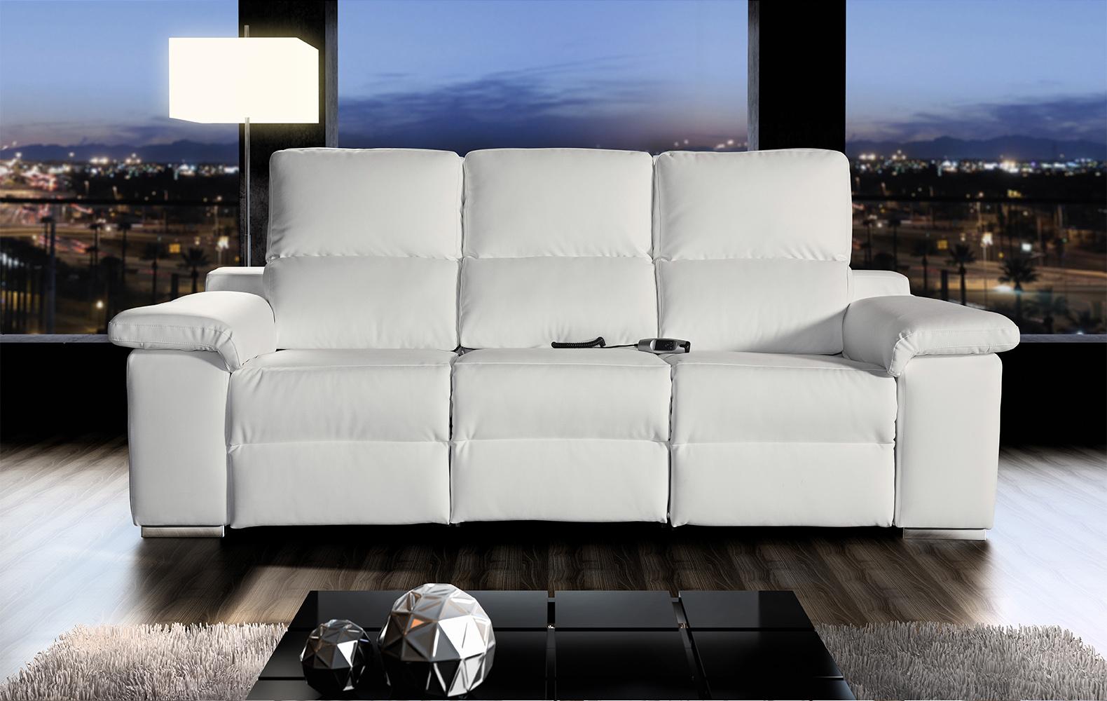 sofa integración 3d fondo ciudad